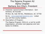 the pajama program nj alpha chapter barbara ann ellert president