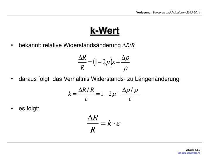 k-Wert