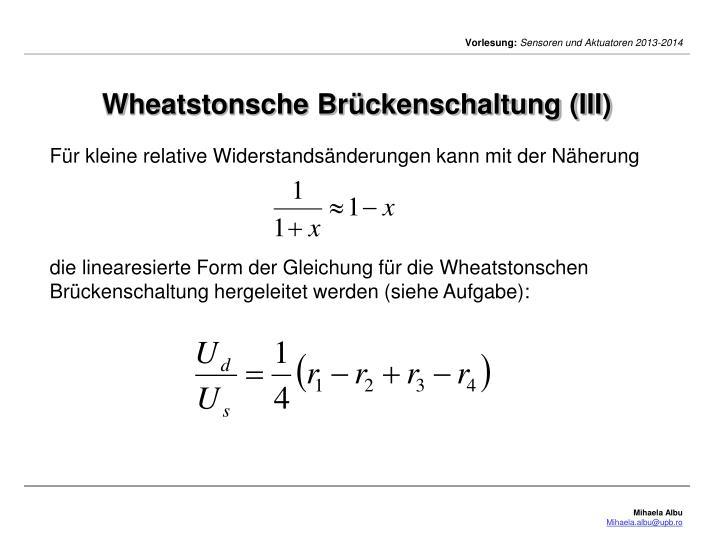Wheatstonsche Brückenschaltung (III)