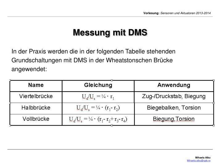 Messung mit DMS