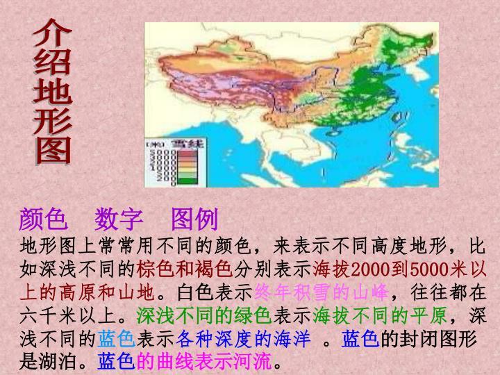 介绍地形图