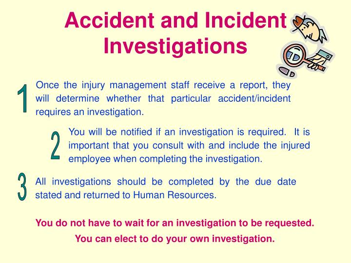 Accident and Incident Investigations