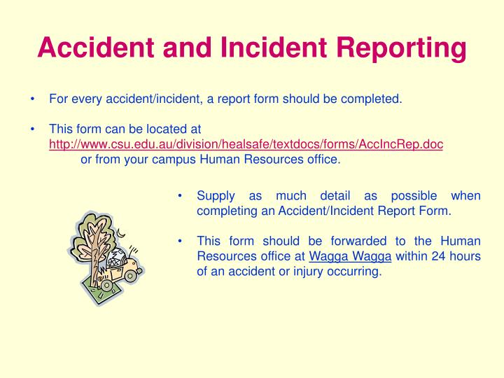 Accident and Incident Reporting