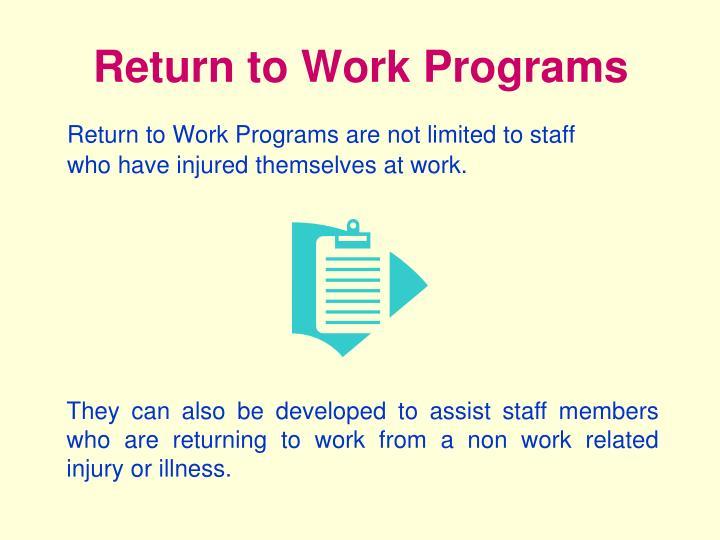 Return to Work Programs