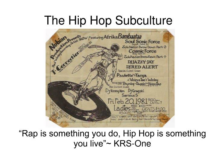 Rap is something you do hip hop is something you live krs one