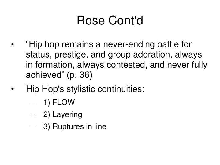 Rose Cont'd