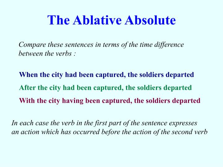 The ablative absolute