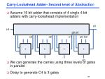 carry lookahead adder second level of abstractio n