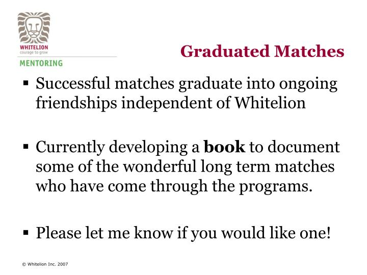 Graduated Matches