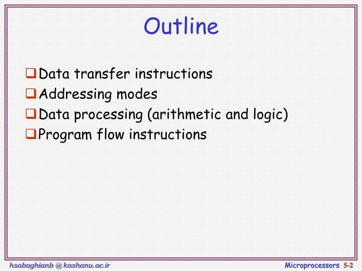 Ppt 8051 Programming Addressing Mode Instruction Set Lec Note 5