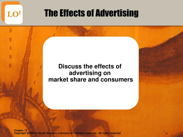 cause and effect of advertising on Big corporations spend millions of dollars each year on advertising and marketing, seeking to develop promotions that create a buyers' frenzy for products or services in general, there is a.
