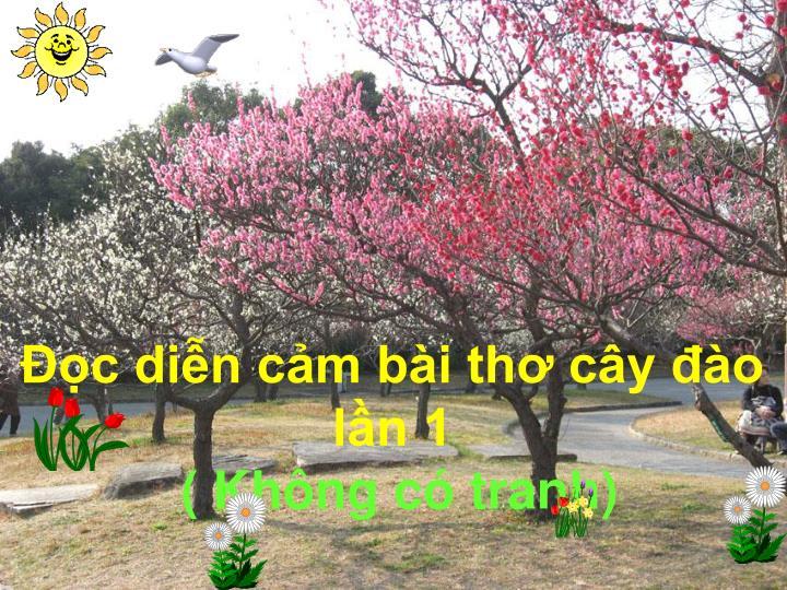 Đọc diễn cảm bài thơ cây đào
