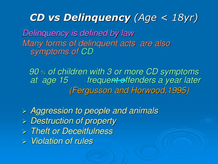 definition and characteristics of juvenile delinquency This sample research paper on juvenile delinquency features: 7200+ words (25 pages), an outline, apa format in-text citations, and a bibliography with 24 sources.