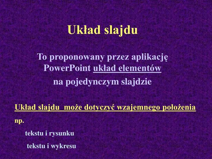 Układ slajdu