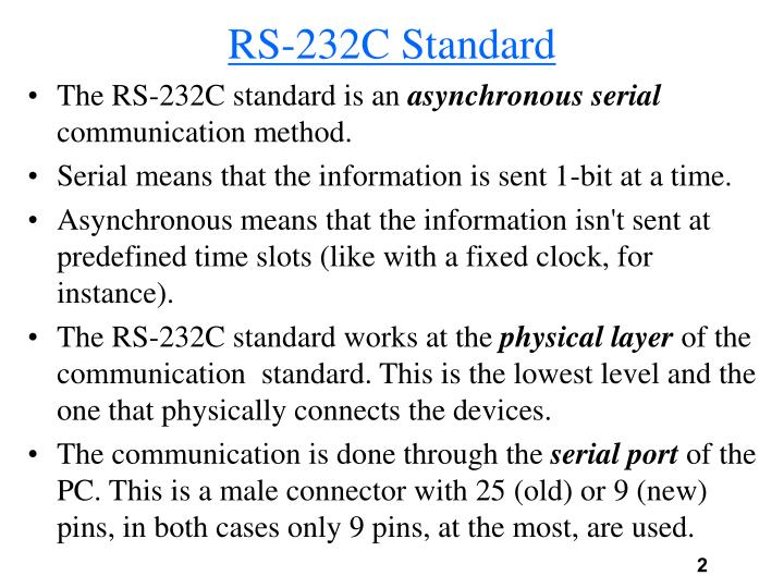 Rs 232c standard