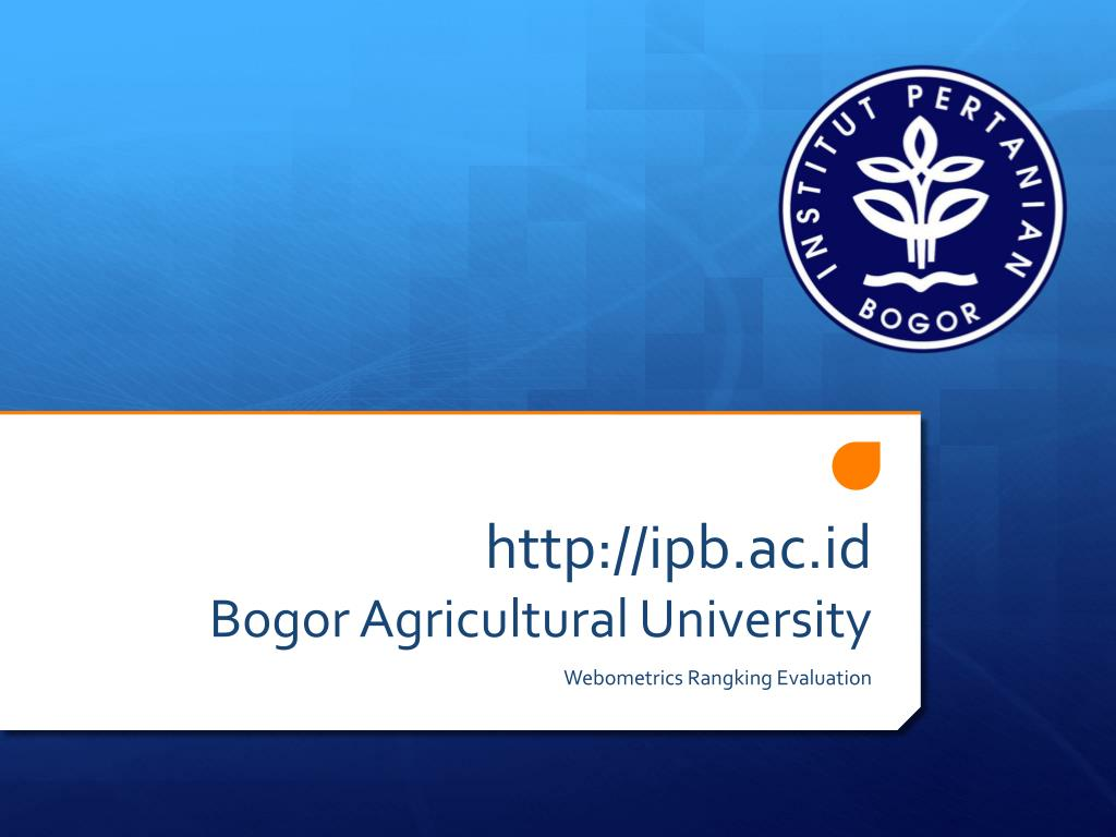 PPT - ipb ac id Bogor Agricultural University PowerPoint