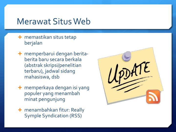 Merawat Situs Web