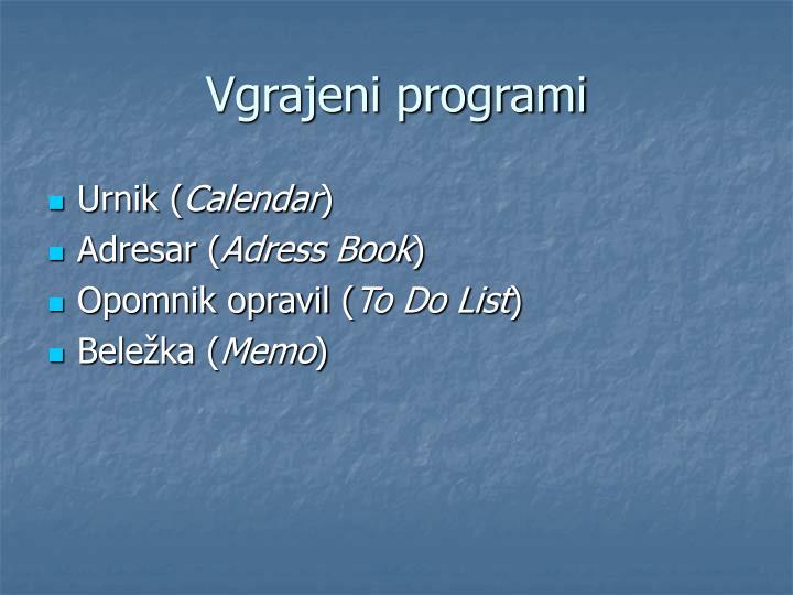 Vgrajeni programi