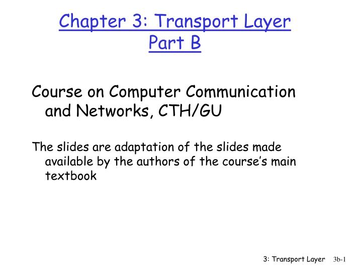 chapter 3 transport layer part b
