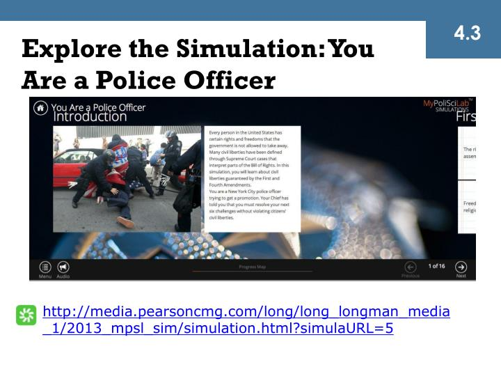 Explore the Simulation: You Are a Police Officer