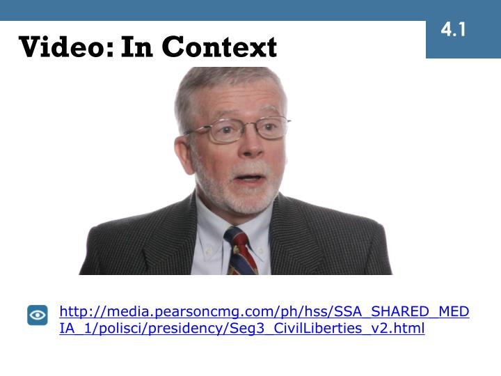 Video: In Context