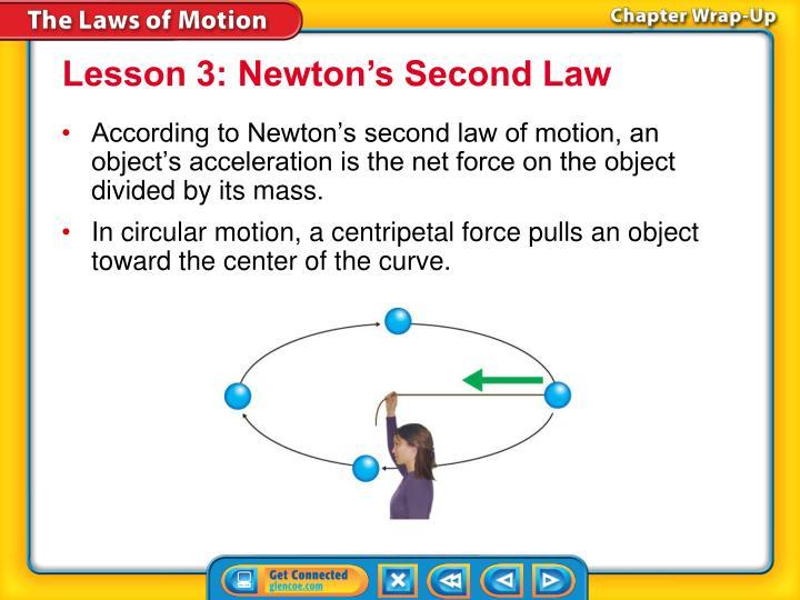 Lesson 3: Newton's Second Law