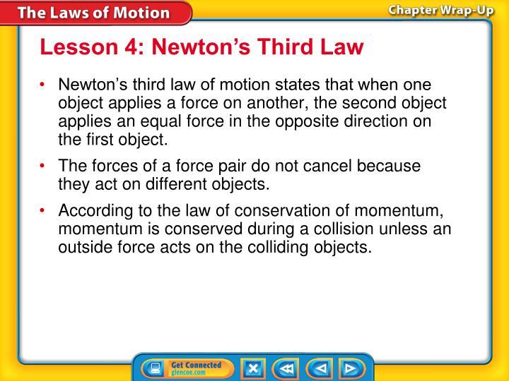 Lesson 4: Newton's Third Law