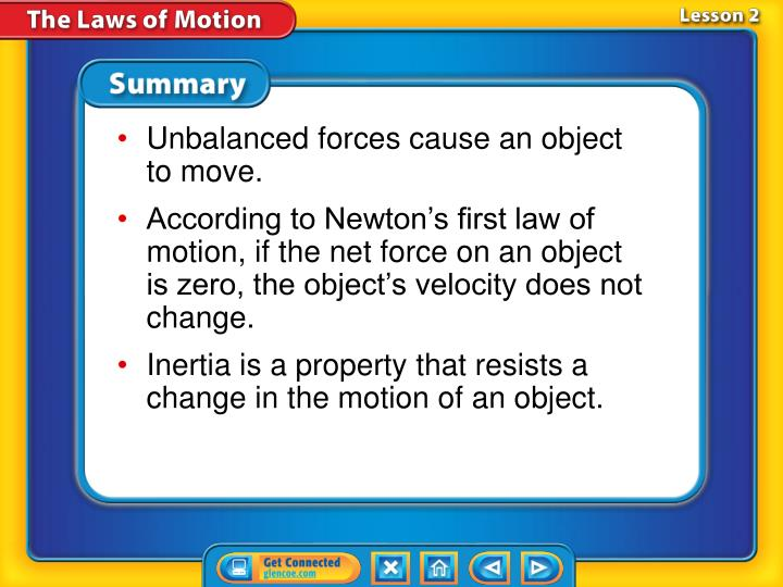 Unbalanced forces cause an object to move.
