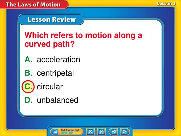 Which refers to motion along a curved path?