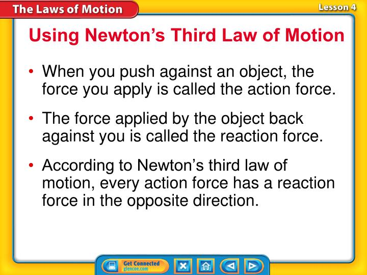 Using Newton's Third Law of Motion