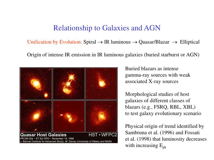Relationship to Galaxies and AGN