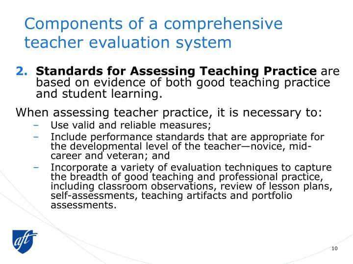 Components of a comprehensive