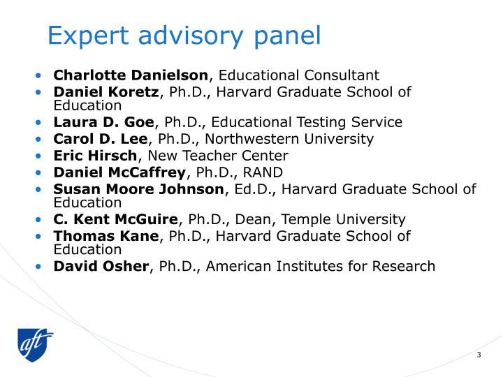 Expert advisory panel
