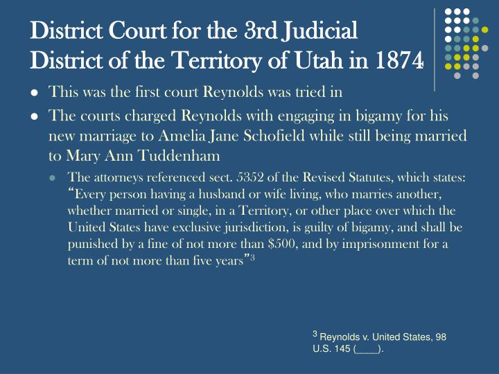 District Court for the 3rd Judicial District of the Territory of Utah in 1874