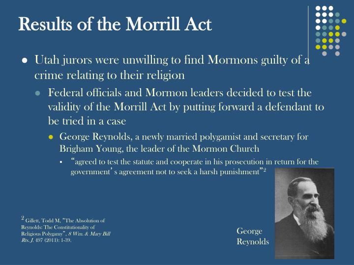 Results of the morrill act