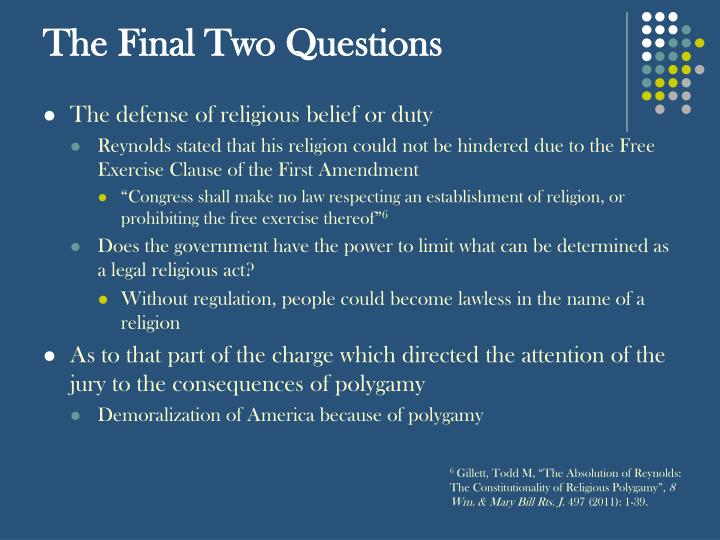The Final Two Questions