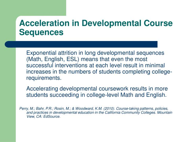 Acceleration in Developmental Course Sequences