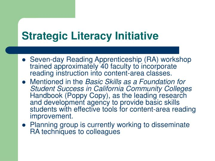 Strategic Literacy Initiative
