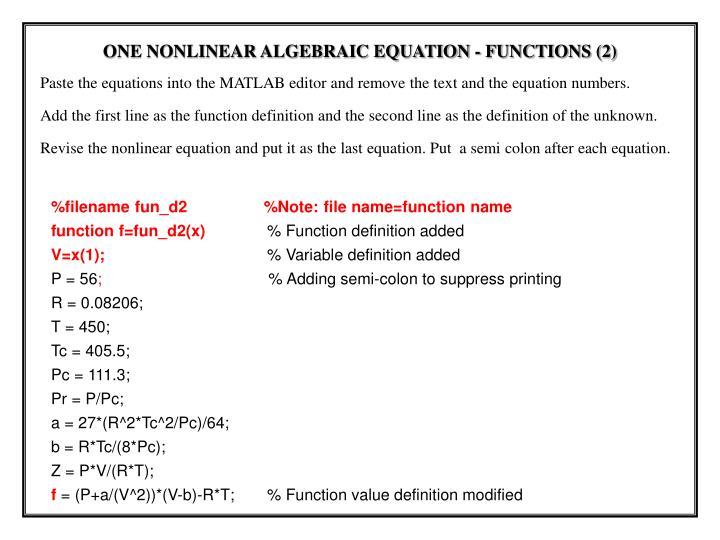 %filename fun_d2                 %Note: file name=function name