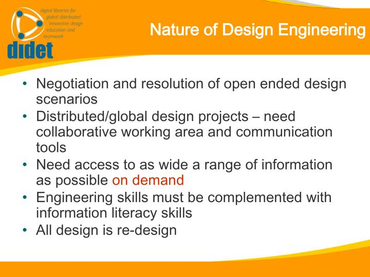 Nature of Design Engineering