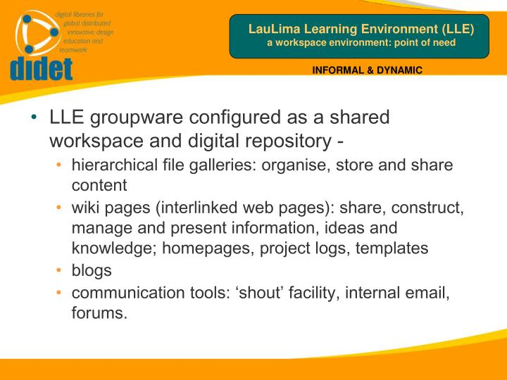 LauLima Learning Environment (LLE)