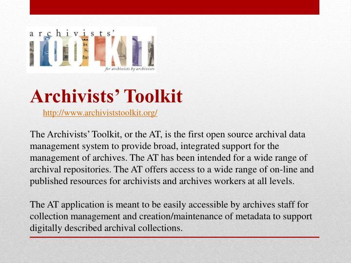 Archivists' Toolkit