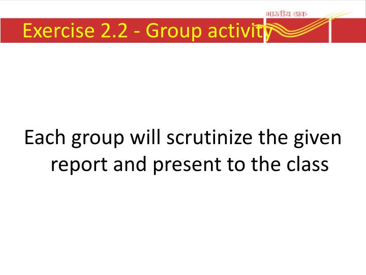 Exercise 2.2 - Group activity