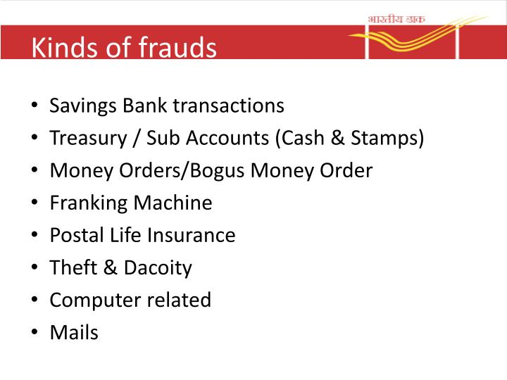 Kinds of frauds