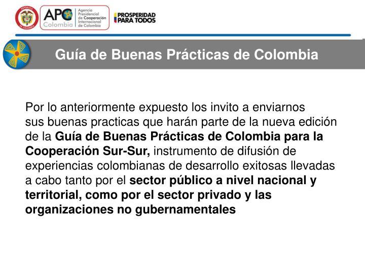 Guía deBuenas Prácticasde Colombia