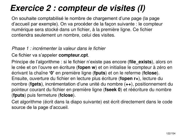 Exercice 2 : compteur de visites (I)