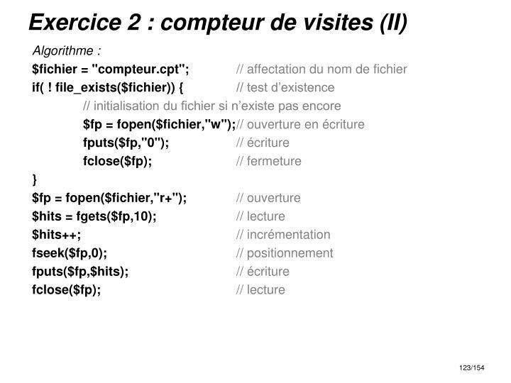 Exercice 2 : compteur de visites (II)