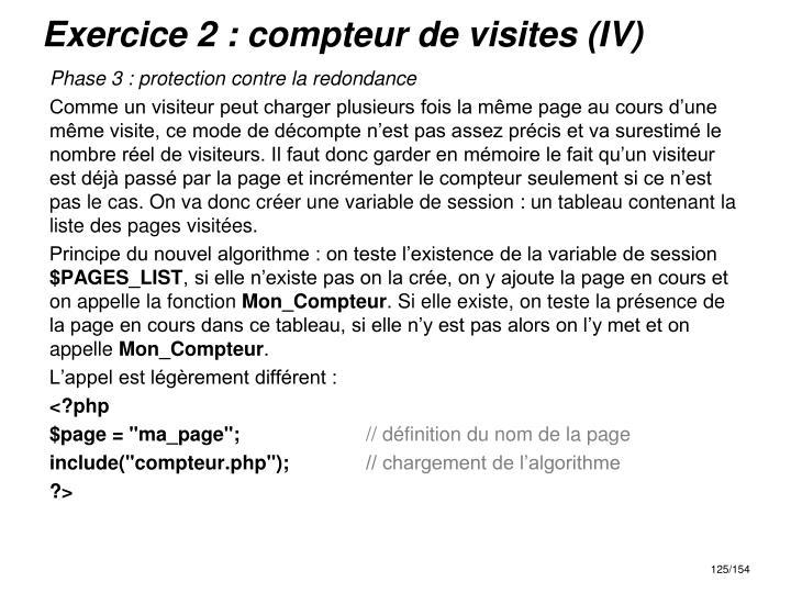 Exercice 2 : compteur de visites (IV)