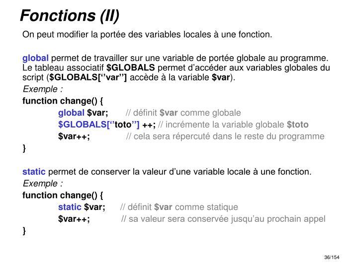 Fonctions (II)