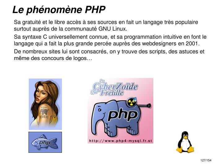 Le phénomène PHP